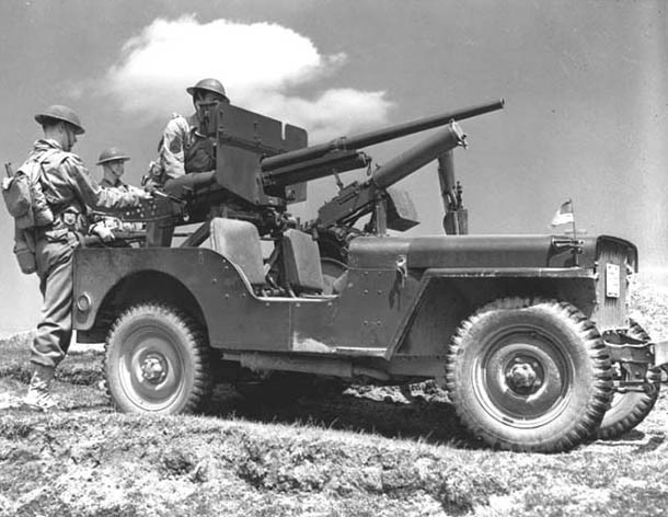 WIllys MB with 37mm cannon, US 3rd Infantry, 1942