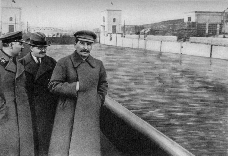 Joseph Stalin and Nikolai Yezhov