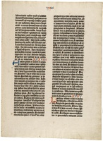 Gutenberg Bible Leaf
